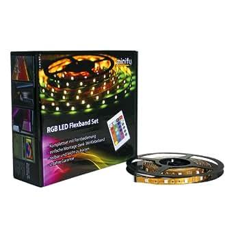 Minify - Bandas LED (10 m) Mando a distancia y adaptador de red.