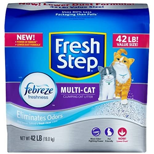 FRESH STEP CAT LITTER 261371 Fresh Step Multiple Cat Litter Strength, 42-Pound