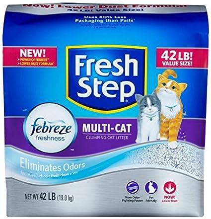 FRESH STEP CAT LITTER 261371 Fresh Step Multiple Cat Litter Strength, 42-Pound