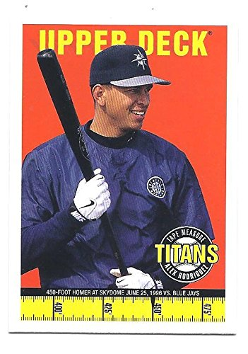 ALEX RODRIGUEZ 1998 Upper Deck Tape Measure Titans Card #18 New York Yankees Baseball