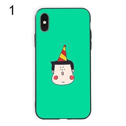 372b86eb70 Wintefei PC Cute Cartoon Birthday Couple Phone Cover for iPhone X 8 7  Samsung S8 Huawei