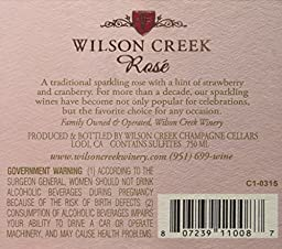 NV Wilson Creek California Sparkling Rose Wine 750mL
