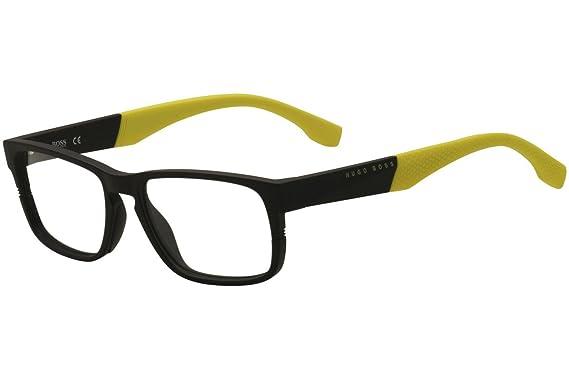 72f74758a4c BOSS Hugo Montures de lunettes - Homme noir matt schwarz - gelbfarben X- Large