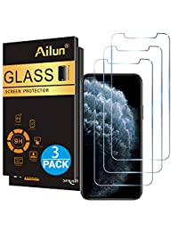 Ailun for Apple iPhone 11 Pro Max iPhone Xs Max Screen Protector 3 Pack 6.5 Inch 2019 2018 Release Tempered Glass 0.33mm Anti Scratch Advanced HD Clarity Work with Most Case