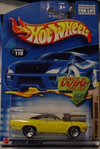 Hot Rod Plymouth - Hot Wheels '70 Plymouth Roadrunner 4/4 2002 #110 Hot Rod Magazine