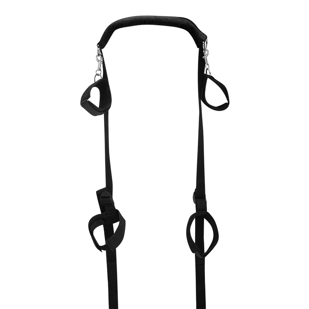 KissyBody Easy Access Portable Thigh Restraint Sling and Hand Cuffs for Fetish Sex Bondage Unisex