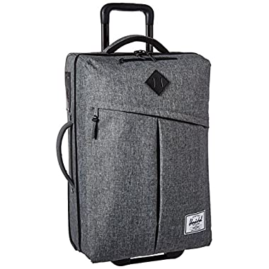 Herschel Supply Co. Campaign Softside Luggage Wheel, Raven Crosshatch/Black Pebbled Leather