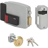 Cisa 111610501 11610-50-1 Elektrische slot, Toepassing: Cilinder, afgehangen, rechts, 12 V, gelakt, grijs aluminium…