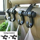 Gyges 2 PCS Car hooks Vehicle Back Seat Hidden Headrest Hanger, Universal Holder for Purse Handbag Grocery Shopping Bag Cloth Coat (2 Pack)