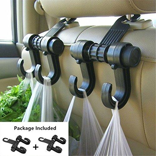 Gyges 2 PCS Car hooks Vehicle Back Seat Hidden Headrest Hang