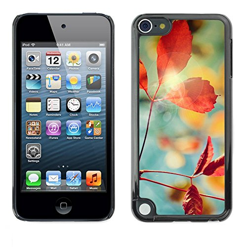 Soft Silicone Rubber Case Hard Cover Protective Accessory Compatible with Apple IPod Touch 5 - Plant Nature Forrest Flower 1