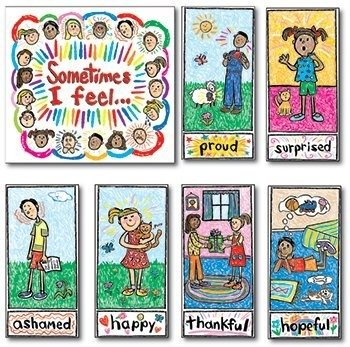 Bb Set Kid-Drawn Emotions - Kid Drawn Bb Set