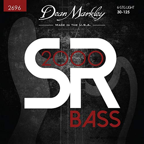 Dean Markley SR2000 Six String Bass Guitar Strings 2696; LT6 ()