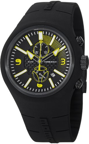 Momo Design Men's MD1009BK-05BKYW Mirage Chrono Analog Display Swiss Quartz Black Watch