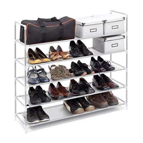 Zapatero metálico Relaxdays para 25 pares de zapatos por menos de 25 euros