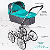 Paradise Galleries Reborn Baby Doll Toy Stroller Carriage for Dolls up to 22 inches