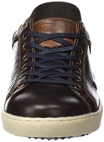 Dockers by Gerli Herren 39jo003-102 Low-Top Braun (schoko/Blau 366 ...