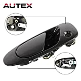 92 civic door handle - AUTEX Black Exterior Front Left Driver Side Door Handle for 1992 1993 1994 1995 Honda Civic