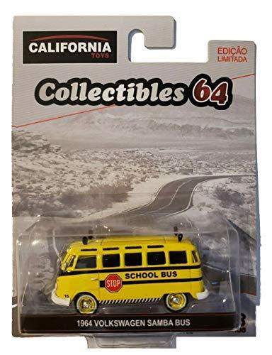 (Greenlight California Brazil Toys 1964 Volkswagen Samba School Bus 1/64 Scale)