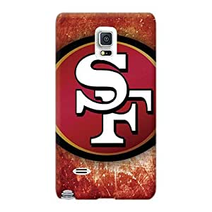 Perfect Hard Phone Cases For Samsung Galaxy Note 4 With Customized Nice San Francisco 49ers Logo Pictures Iphonecase88