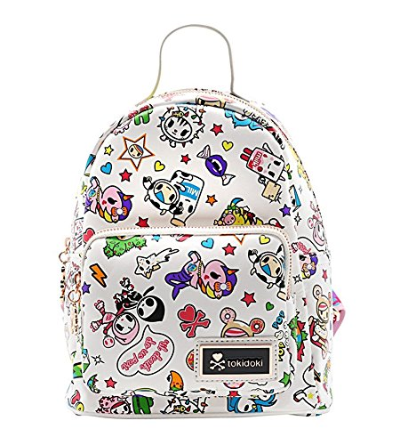 Logo Jacquard Messenger Bags - Tokidoki White Denim Daze Mini Backpack