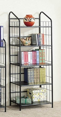 Review New 5-tier Rack /bookshelf In Black Finish By Coaster Home Furnishings by Coaster Home Furnishings