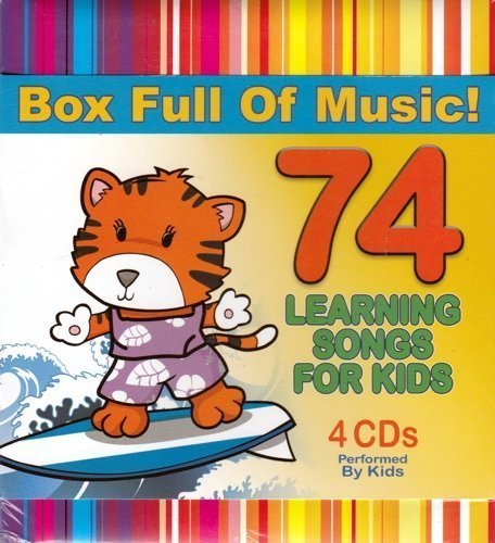 74 Learning Songs for Kids 4 CD Box Set (4 Music CD Set)