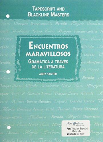 Encuentros Maravillosos: Gramatica A Traves De La Literatura