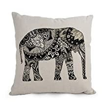 Throw Pillow Covers Of Elephant 12 X 20 Inches / 30 By 50 Cm Best Fit For Car Seat Club Gf Teens Boys Kids Girls Office Twice Sides