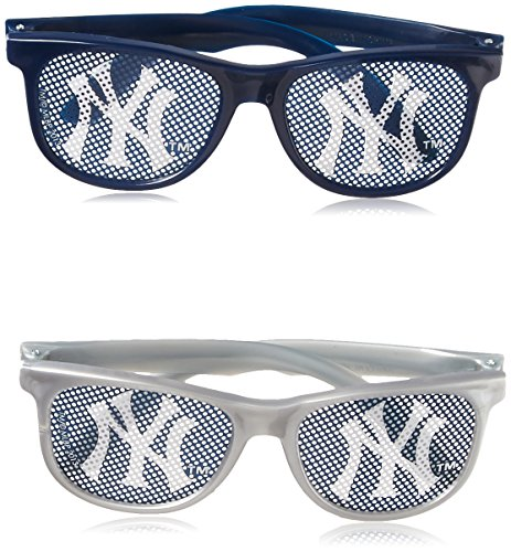 Amscan Sports & Tailgating Mlb NY Yankees Printed Glasses Accessory Gray/Blue Plastic 2