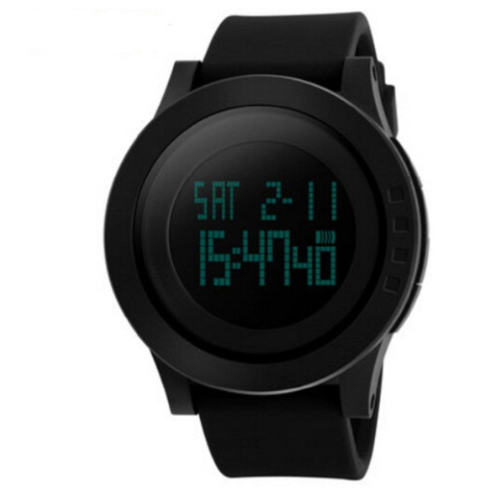 f680817c512 Amazon.com  Luxury Men Military Sports Watches Waterproof LED Digital Watch  For Men Clock Black Relogio  Watches