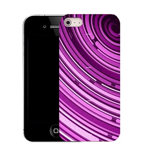 Mobile Case Mate iPhone 5c clip on Silicone Coque couverture case cover Pare-chocs + STYLET - purple tunnel pattern (SILICON)