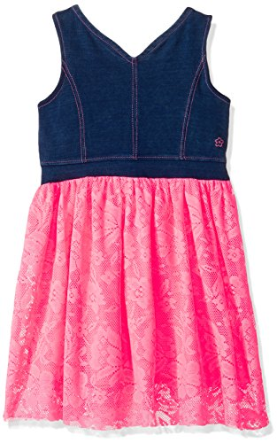 Limited Too Girls' Big Casual Dress, KX48 Neon Pink, 12 -