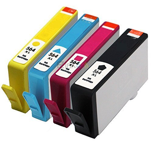 4PK New Gen 564XL 564 XL Ink Cartridge for HP Photosmart 6510 6520 7510 7520 (Savin Blue Ink)