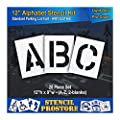 "Pavement Stencils - 12 inch Alphabet KIT Stencil Set - (28 Piece) - 12"" x 9"""