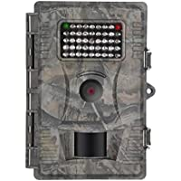 FULLLIGHT TECH 1080P HD Game & Trail Camera 12 MP Infrared Night Vision Low Glow Motion Activated Wildlife Hunting Cameras with 42 IR Leds and IP54 Water Protected Design