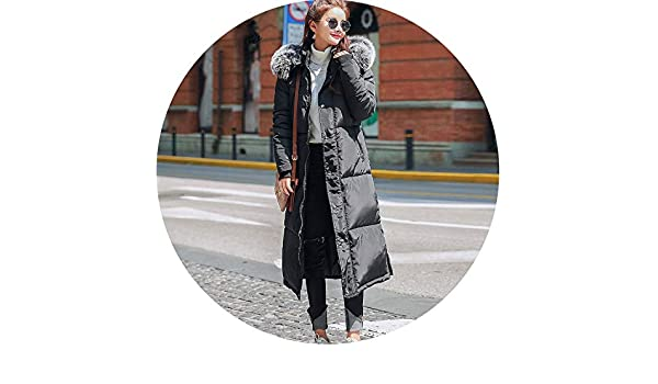 Amazon.com: Every kind of beauty Hooded Fur Collar Winter Down Coat Jacket Long Thick Warm Women Casaco Feminino Abrigos Mujer Invierno Student Wadded ...