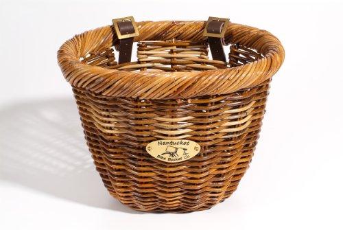 (Nantucket Bike Basket Co Cisco Collection Oval Bicycle Basket (Tan, 14 X 11 X)