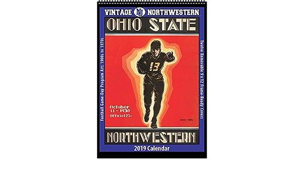 Northwestern 2019 Calendar Amazon.: Vintage Northwestern Wildcats 2019 College Football