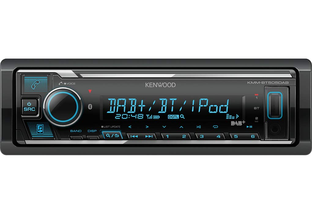 DAB+ VW Caddy 2K Autoradio Radio Kenwood KMM-BT505DAB Bluetooth Einbauzubeh/ör VarioColor iPhone//Android Spotify Einbauset