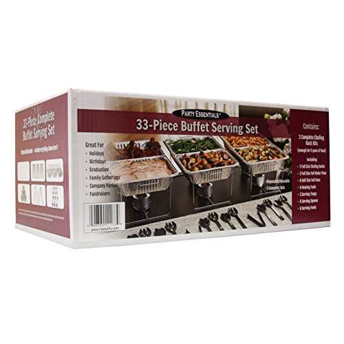 Party Essentials 33 Piece Party Serving Kit, Includes Chafing Kits and Serving Utensils by Party Essentials (Image #1)