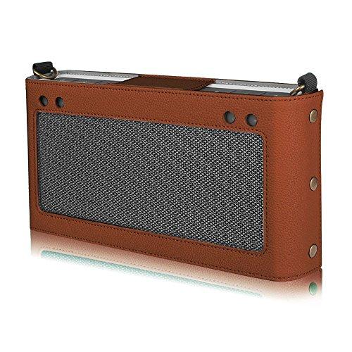 Fintie Bose SoundLink Bluetooth Speaker III Hülle Abdeckung - Hochwertiges Kunstleder Schutzhülle Tasche Case mit Abnehmbarem Band für Bose SoundLink Bluetooth Speaker III 3, Braun