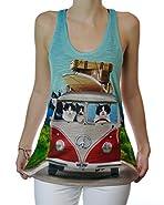 Summer Roadtrip Beach Boy Cats Funny Graphic Cat Tank Top