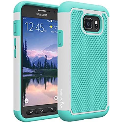 S7 Active Case, Nuomaofly Heavy Duty Dual Layer Armored Hybrid Case Cover for Samsung Galaxy S7 Active (Mint and Grey) Sales