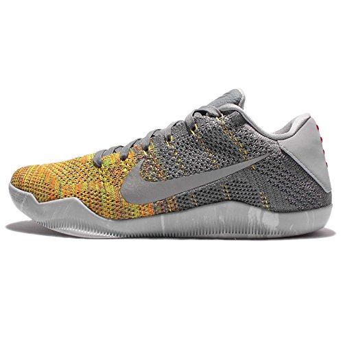 Nike Kobe XI Elite Low, Scarpe da Basket Uomo Gris (Cool Grey / Voltage Green-yellow Strike)