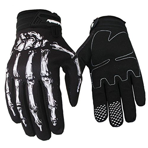 Panegy Mens Womans Skeleton Bones Anti-slip Full-Finger Cycling