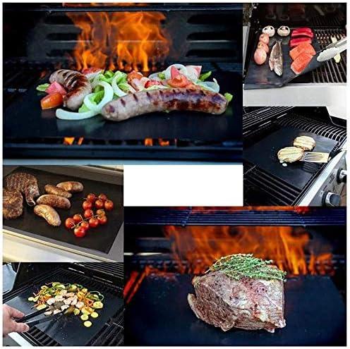 ZLYMY Tapis Barbecue, 100% Anti-Adhésive, Réutilisable, Résistant À La Chaleur, Bien Propre, Adapté pour Le Gaz, Le Charbon, Four Micro-Ondes Et Grill Électrique,10