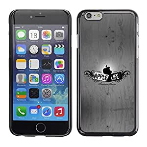 LECELL -- Funda protectora / Cubierta / Piel For Apple iPhone 6 Plus 5.5 -- Funny Apple Life --