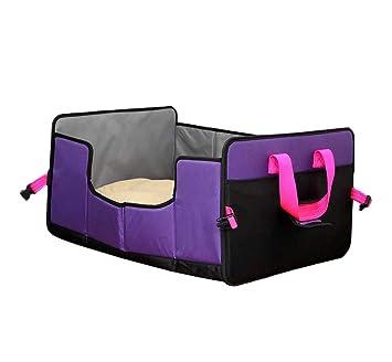 GLMAMK Perreras para Gatos, Respirables y Transpirables Ultimate Cat Scratcher Lounge, artículos de Viaje para Mascotas (Color : Púrpura): Amazon.es: Hogar