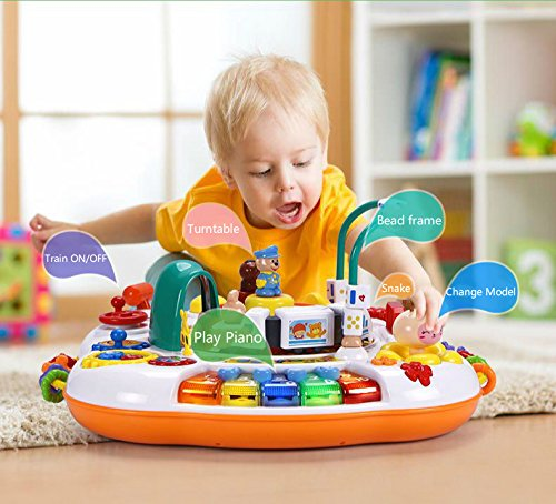Sytle-Carry Learning Activity Table Toddler Toys - Music Activity Center Game Table Baby Toys 6 to 12 Months Sit to Stand Play Table Toys for 1 2 3 Years Old Boys Girls Birthday Gifts by Sytle-Carry (Image #2)